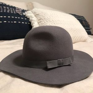 "BRIXTON grey wool ""piper"" hat"